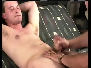 Luscious Dude Gets Cock Jerked