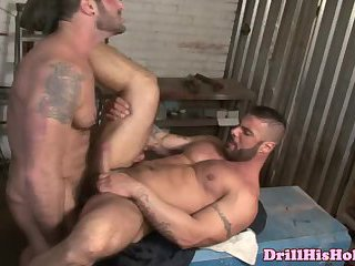 Cruel manly stud ass ripping hairy hunk with his big fat dong