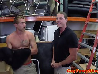 Amateur straight jock encounters a gay gimp