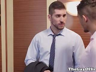 HR officestud fucked by applicant in elevator