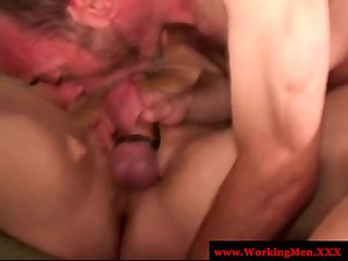 Mature old bear amateur anal toy play