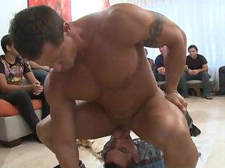 Hard dick in boy's throat