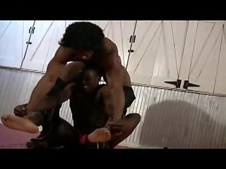 Hot black dude wrestle 2