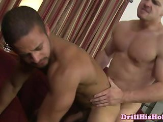 Merciless stud drilliing brownie queen with his big cock