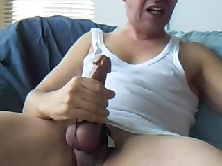 Guy Takes Care of His Cock