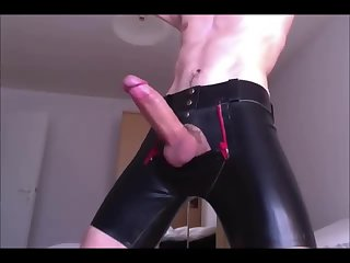 Monster cock and rubber shorts
