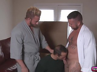 Aaron Bruiser, Charlie Harding and Luke Adams hot threesome ass fucking