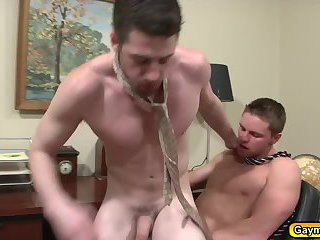 Andrew offers Jake his big cock and tight ass to make him feel better