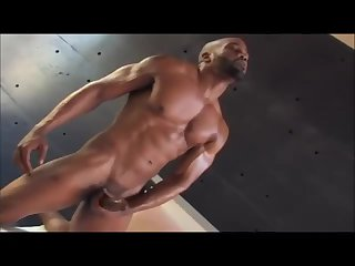 Muscle Black Guy Fucking Fleshlight