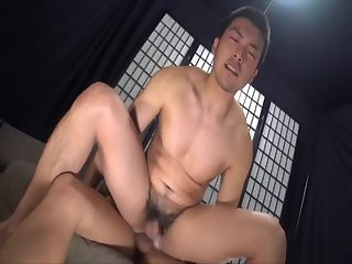 Japan sports man anal fucking and cumming