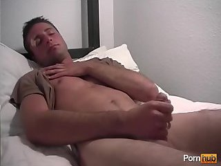 Cute Guy in Uniform Beating Off