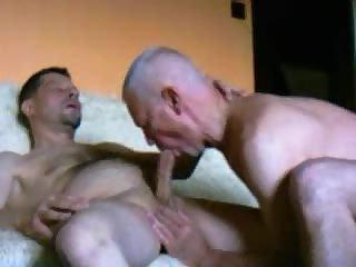 Mature Gays Enjoy Handjob & Blowjob