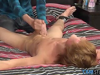 Hot naked twink James Lain is vulnerable and at our mercy