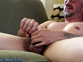Muscly dudes spunky solo