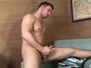 Brandon kent tugging dick
