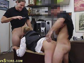 Amateur has gay threesome