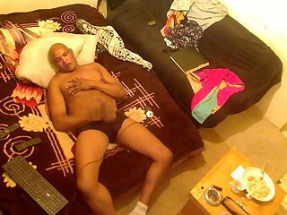 Big Black Bodybuilder Wanking
