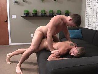 Big dick getting suck and hard fuck bareback anal