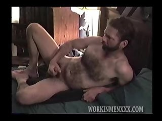 Rugged and Masculine Mature Man Jacking Off