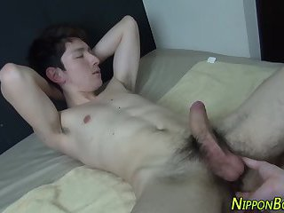 Asian twinks cum tugging