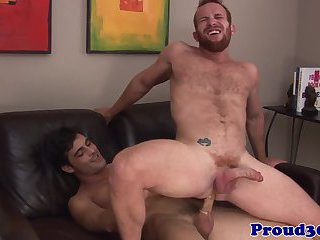 Mature jock rimmed before cumming
