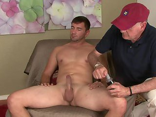 Giving hunky ex military dude a handjob