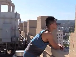 [GVC 229] Asian Guy Tugging Dick Outdoor