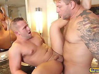 Colby gets horny seeing Luke jerking off his fat dick