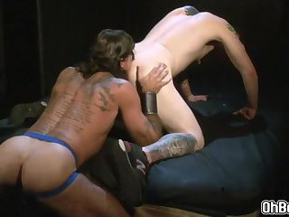 Hunk Gays rimming and fingering ass and fucks bareback