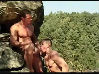 Muscle guys sucking fucking outdoor