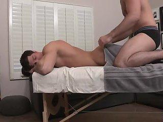 Twink massage turns out to anal fucking bareback