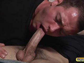Brendan taking dick deep in his mouth and inside his ass