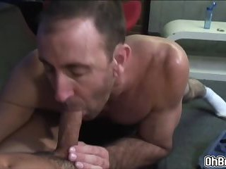 Mature gay sucking dick and fucks anal doggy style