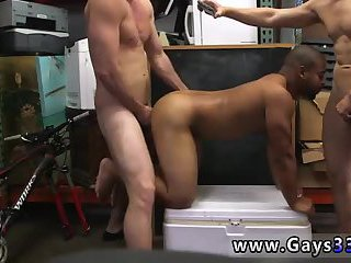 Black guy gets shared between white cocks