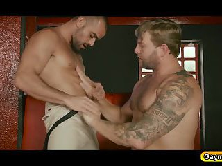 Colbys fucking Damiens hot ass so hard spreading his legs