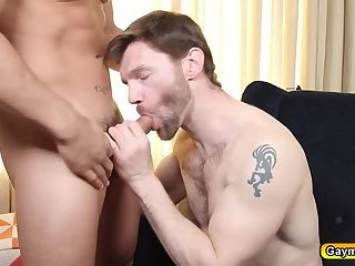 Topher drills Dennis  chunky ass so deep with his dick