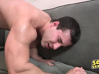 Sean pounds Randy for a while and switch as Randy returns the favor