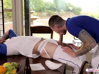 Mark Long fills ass of Zane Porter with his big hard dick