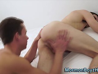 Uniform mormon boy rimmed