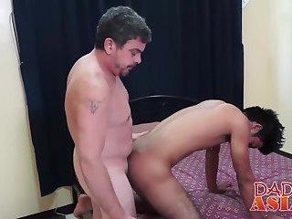 Daddy loves asian Kris because Kris has a nice big cock