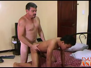 Daddy loves fucking sexy asian twink Alexes lovely ass