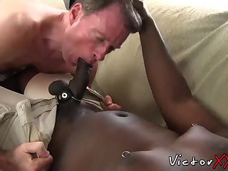 Lex nibbles deacons big throbbing dick inside his mouth