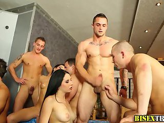 Bisexual couples orgy