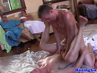 College Twink Frats Hazed With Analfucking