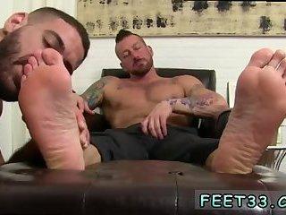 Bear guy gets feet licked