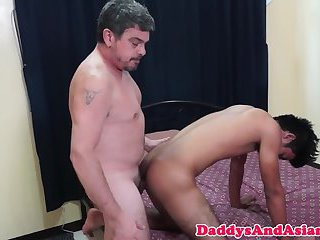 Asian twink sixtynines with dilf