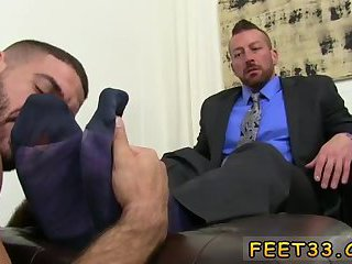 Guy gets his feet massaged