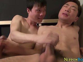 Asian twinks stroke cocks