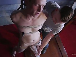 bound blond boy