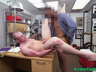Cocksucking soldier interracially analfucked